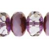 Fire polished 17mm Donut Mix Pink Alabaster Bronze